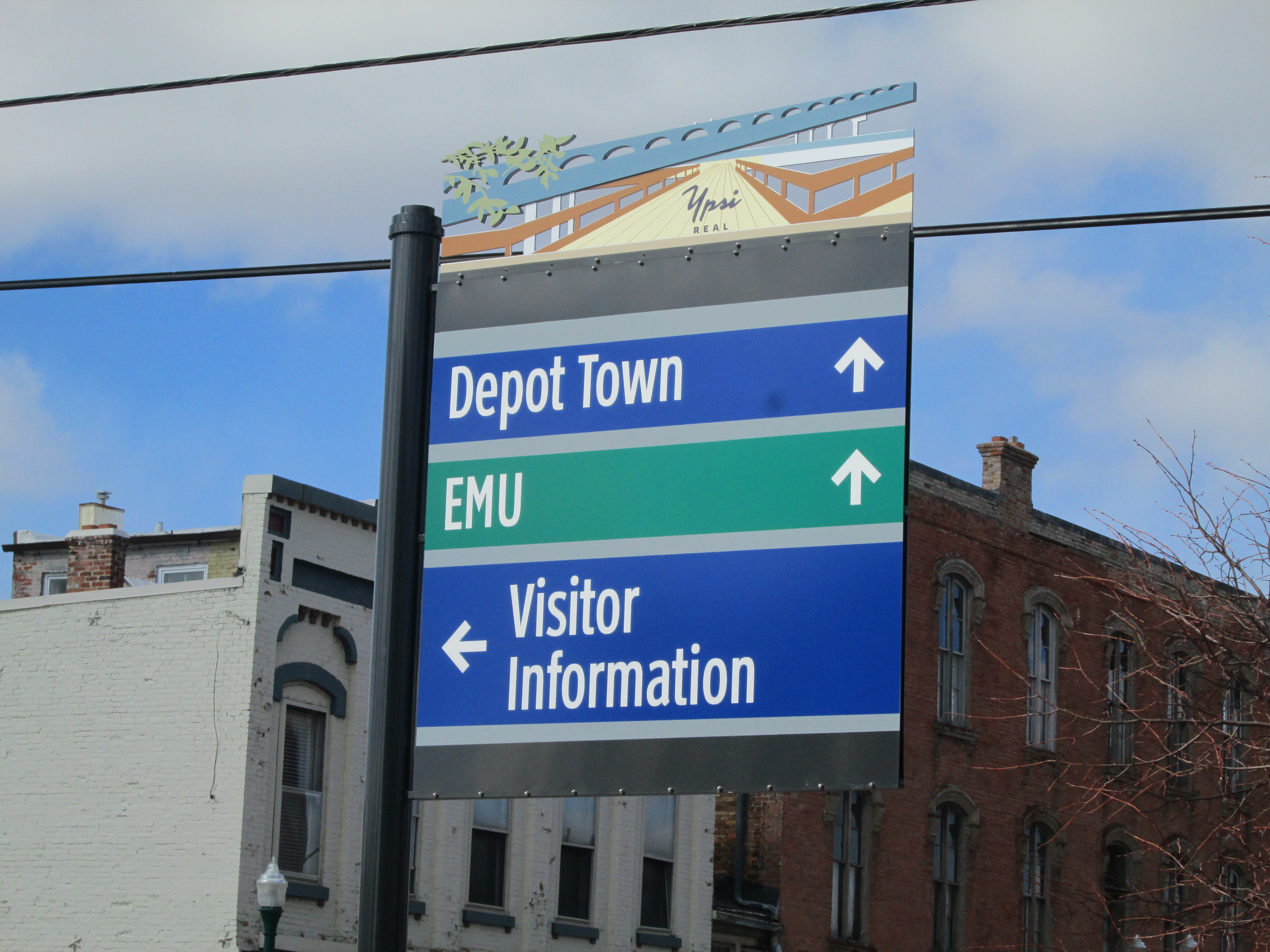 A2Y Regional Chamber Partners on New Ypsilanti Wayfinding Signage